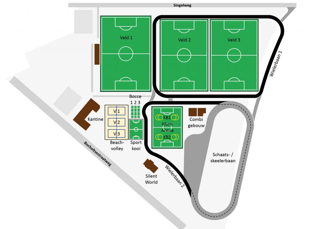 Plattegrond sportpark Zuid te Aalten